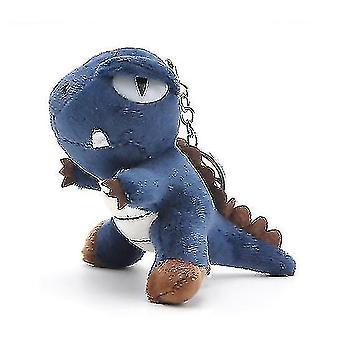 ペンダントティラノサウルスおもちゃの爪マシン人形(青)と恐竜ぬいぐるみ人形