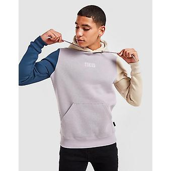 New STATUS Men's Tri-Colour Hoodie from JD Outlet Grey