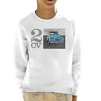 Citroen 2CV Meadow Foto Kid's Sweatshirt