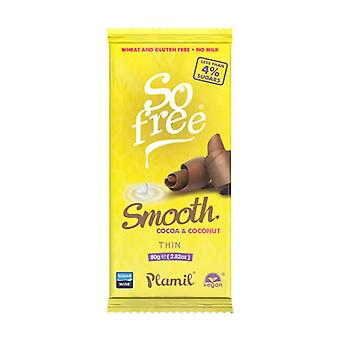 So Free No Added Sugar 2780 Smooth Cocoa and Coconut Thin 80g x12