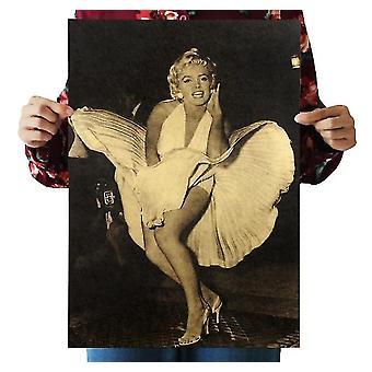 Marilyn Monroe Vintage Kraft Paper Classic Movie Poster