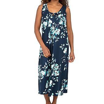 Cyberjammies Nora Rose Judy 1570 Women's Blue Floral Cotton Nightdress