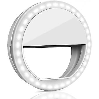 Selfie Ring Light With Retaining Clip On Portable For Smart Phone Photography Video