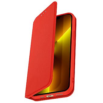 Case for Apple iPhone 13 Pro Max Clamshell Wallet Function Video Support - red