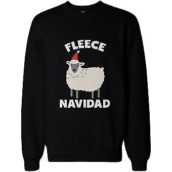 Fleece Navidad Funny Christmas grafisk tröjor - söt X-mas Pullover tröja