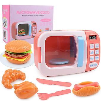 Lasten sähköinen mikroaaltouuni leikkisetti valo & ääni leikki lelu