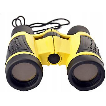 Children's Telescope Outdoor Adventure Telescope Toy Telescope 5x30 Binoculars, Yellow
