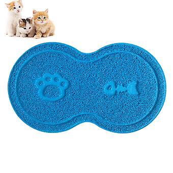 Katzenstreuteppich, Streichtisch-Set, Katzenfußmatte, Streumatte, Katzenmatte Abbildung 8 (hellblau)
