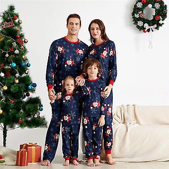 Weihnachtspyjama Familie Passendes Weihnachtsset Mama Papa Kind Weihnachtsmann Nachtwäsche Nachtwäsche