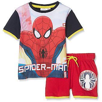 Boys Marvel Spiderman Short Sleeve T-Shirt & Shorts Set
