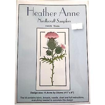 Heather Anne Needlecraft Samplers CS578 Thistle Cross Stitch Kit