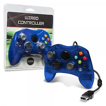 XBOX проводной контроллер (синий)