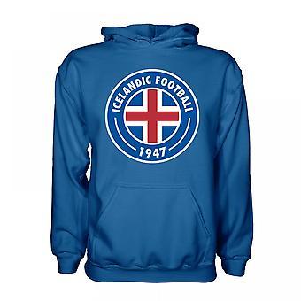 Island Core Logo Hoody (blå) - barn