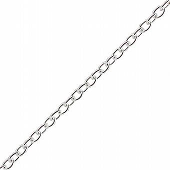 Silver 2.5mm wide Cable Pendant Chain 24 inches