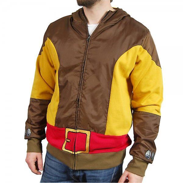 Marvel Comics Mens Brown Wolf Wolverine Costume Hoodie