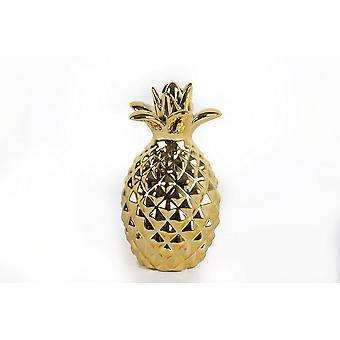 14X24CM GOLD PINEAPPLE HOME RESTAURANT DECORATION ORNAMENT