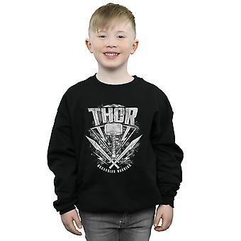 Marvel Boys Thor Ragnarok Hammer Logo Sweatshirt