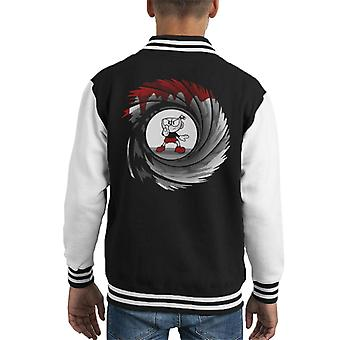 Cuphead Double 0 Cup Kid's Varsity Jacket