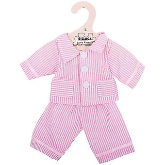 Bigjigs Toys Pink Stiped Pyjamas (38cm) Clothing Outfit Dress Up