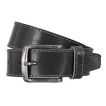 LLOYD Men's belt belts men's belts leather belt black 4760