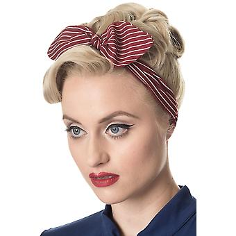 Banned Brandy Pinstripe Headscarf
