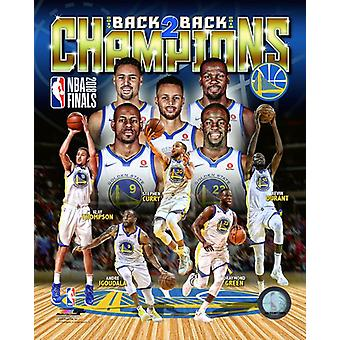 Golden State Warriors 2018 NBA Champions Composite Photo Print