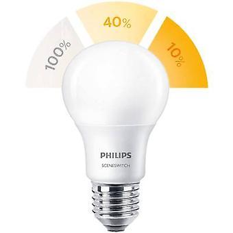 Philips Lighting LED EØF a (en ++ - E) E27 vilkårlig 8 W = 60 W varm hvit (Ø x L) 61 x 107 mm SceneSwitch 1 eller flere PCer
