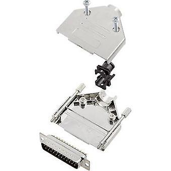 encitech DTPK-M-25-DBP-K 6355-0030-03 D-SUB juego de tiras de pasador 180o Número de pines: 25 Cubo de soldadura 1 Conjunto