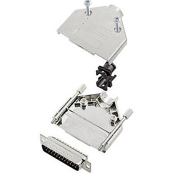 encitech DTPK-M-25-DBP-K 6355-0030-03 D-SUB PIN strip set 180 ° aantal pinnen: 25 soldeer emmer 1 set