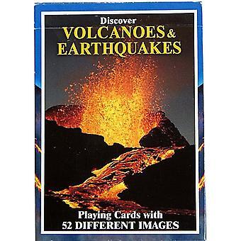 Oppdag vulkaner & jordskjelv sett med 52 kort + jokere