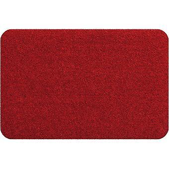 Salon lion mini mat rouge lavable petit pied mat