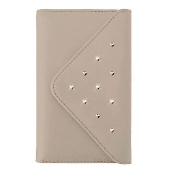 White Diamonds Grand Purse Case voor iPhone 6 Plus, 7 Plus, 8 Plus - Rosé Goud