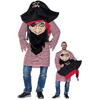 Szalony pirat mens strój pirata karnawał