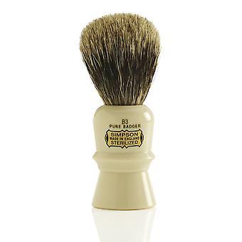 Brocha de afeitar de tejón puro de Simpson Beaufort - B3