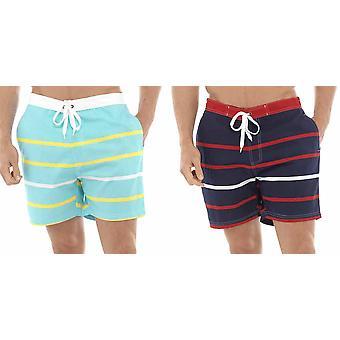 2PK Tom Franków Multi pasek Print plaży basen pływanie spodenki długość kolana