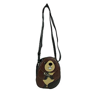Sleepyville Critters Stanley the Beaver Small Crossbody Purse