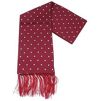 Knightsbridge cravatte a pois vestito sciarpa - Burgundy/White