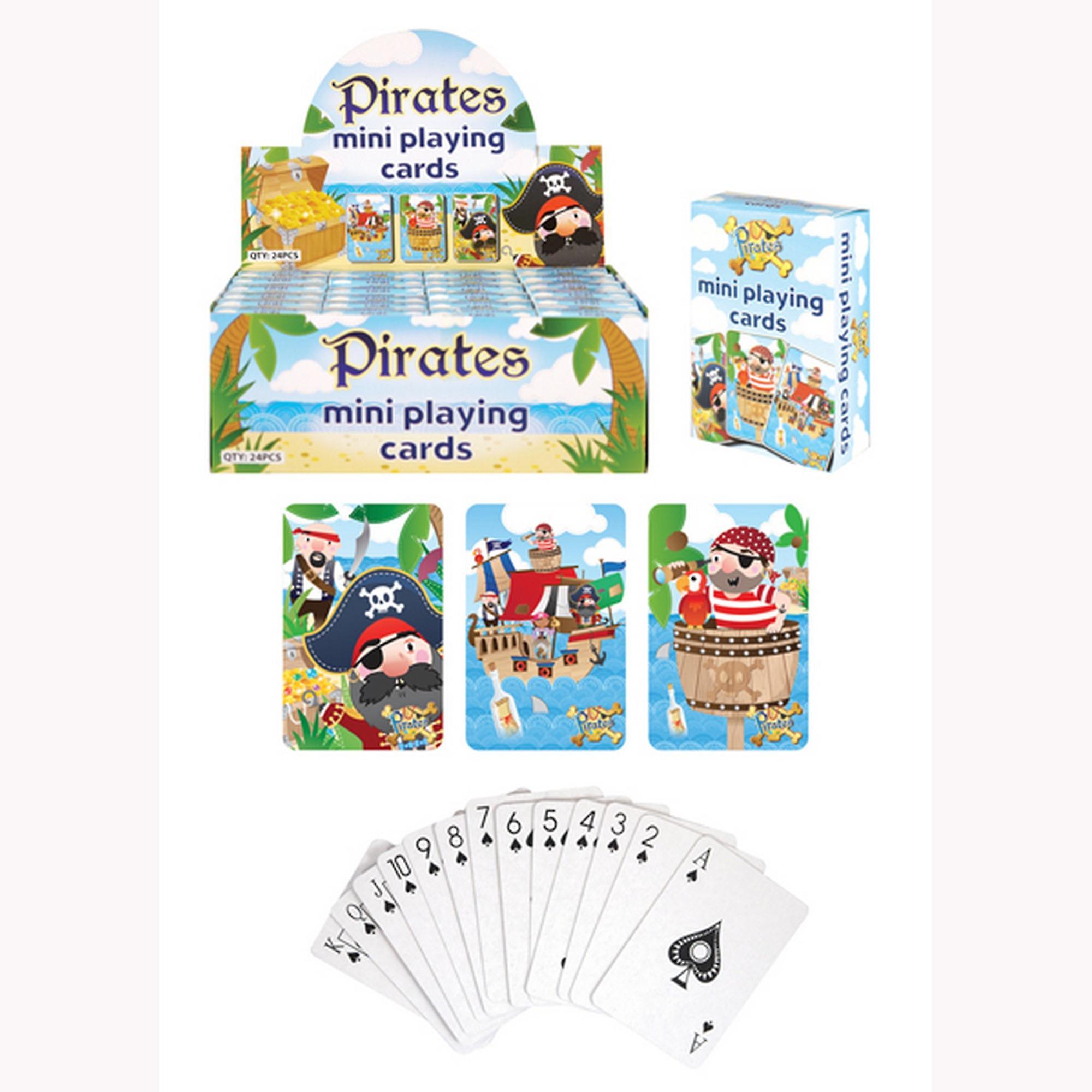 Henbrandt barn/barn pirat Mini spillkort (boks med 24)