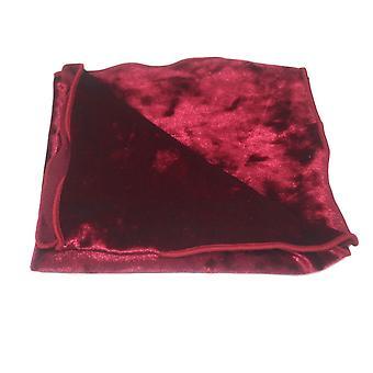 Luxus rot Crushed Velvet Einstecktuch, Taschentuch