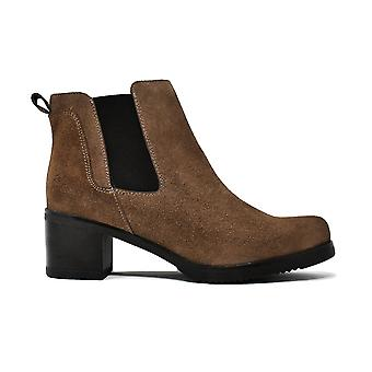 Liberitae ankle boots in suede Kaki 21803333-03 Chelsea