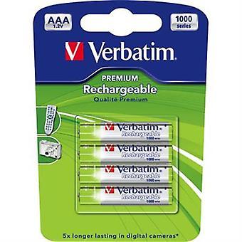Baterii reîncărcabile Verbatim, AAA (LR03) 930mAh, 1.2 V