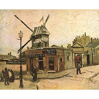 Le Moulin de la Galette, Vincent Van Gogh, 46.5 x38cm
