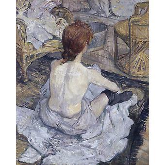 The Toilette, Henri Toulouse-Lautrec, 67x54cm