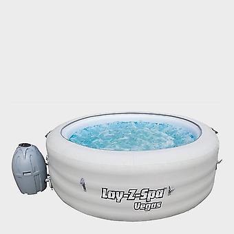 新しいLay-Z-スパベガスポータブルインフレータブルホットタブホワイト