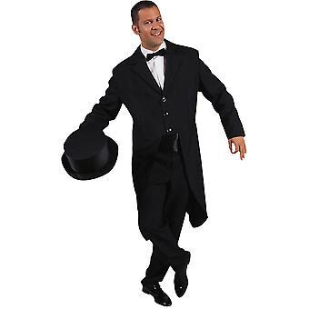 Mannen kostuums zwarte rokkostuum voor mannen