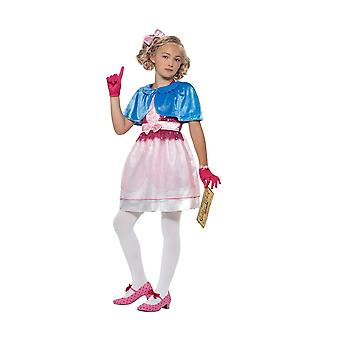 Roald Dahl Deluxe Veruca Salt Costume, Licensed Fancy Dress, Large Age 10-12