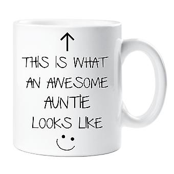 This Is What An Awesome Auntie Looks Like V2 Mug