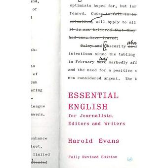 Essential English: For Journalists, Editors and Writers (Pimlico)