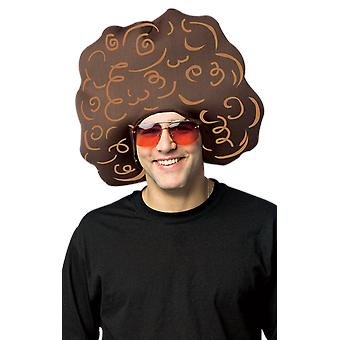 Adult Afro Hair Wig Headpiece Novelty Fancy Dress Costume Accessory