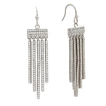 Bertha Sophia Collection Women's 18k WG Plated Bar Drop Fashion Earrings